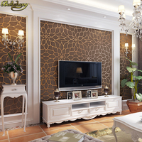 Beibehang High Quality Luxury Lotus 3D Flocked Deerskin Cashmere Craft Wallpaper Bedroom Living Room Backdrop Papel