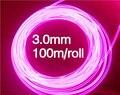 100 м/рулон 3.0 мм Sside свечения волоконно-оптическое освещение для автомобиля волоконной оптики