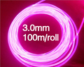 100m/roll 3.0mm Sside glow fiber optic lighting for car fiber optics