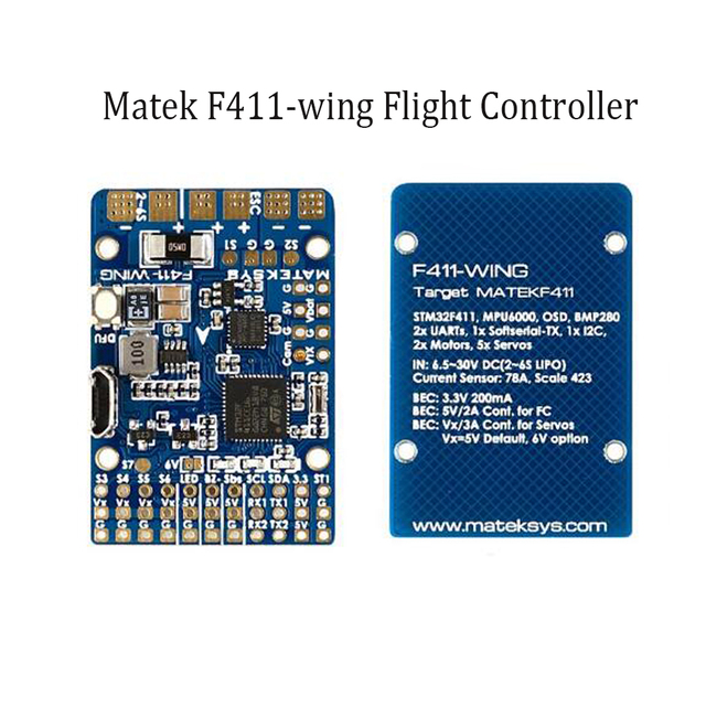 US $34 99 |Matek F411 WING STM32F411 Flight Controller With INAV OSD  MPU6000 BMP280 Support Fly Wing Fixed Wing RC Airplane-in Parts &  Accessories