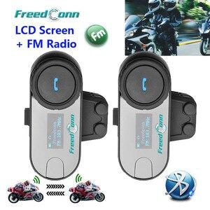 FreedConn 2 шт., ЖК-экран, FM функция, 3 гонщика, Hi-Fi динамик, мотоциклетный Интерком, BT, Bluetooth, беспроводная гарнитура для переговорного шлема
