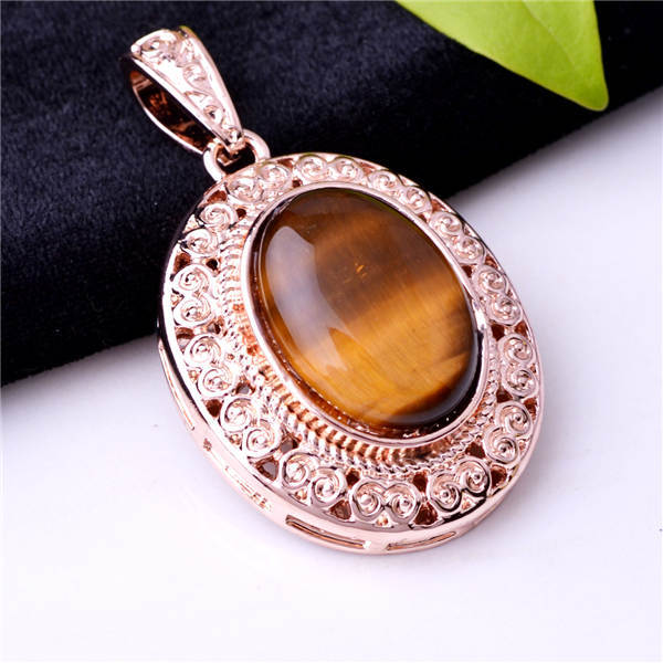 Vintage design beautiful oval shape necklace pendant oval stone vintage design beautiful oval shape necklace pendant oval stone inlay gold plated carved base jewelry pendant free shipping in pendants from jewelry mozeypictures Images