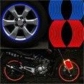 """Novo! 16 Pcs Tiras de Roda Adesivos E Decalques 14 """"17"""" 18 """"a Fita do Aro Moto Motocicleta Carro reflexivo Fita 5 Cores Estilo Do Carro"""
