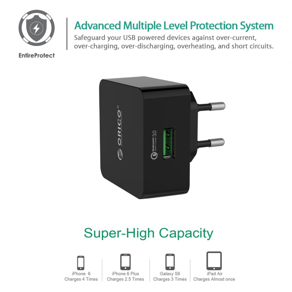 Orico 1 Port Qc30 Usb Quick Charger Wall With 1m Free Micro And Adapter Power Circuit Electronic Circuits Cable Eu Us Uk Type Plug Blackqtw 1u In Tablet Chargers From Computer Office On