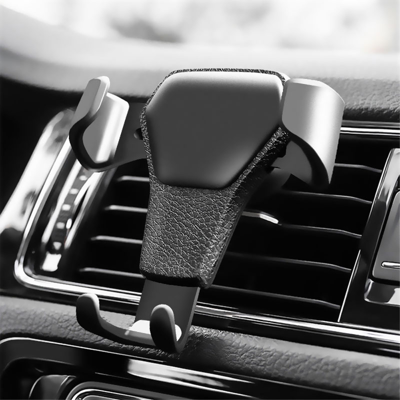 Gravity Reaction Car Mobile Phone Holder Clip Type Air Vent Monut GPS Car Phone Holder For IPhone 8 7 6 6s Plus Samsung S7 S8 S9