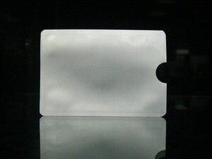 Image 4 - 100ピース/ロット空白アンチセフトrfidクレジットカードプロテクターrfidブロッキング袖アルミ安全シールドホルダー送料無料