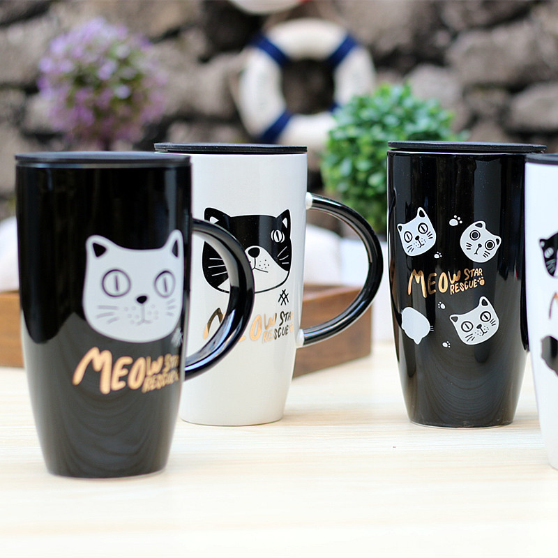 Coffee Cup Cartoon Cat Ceramic Mugs