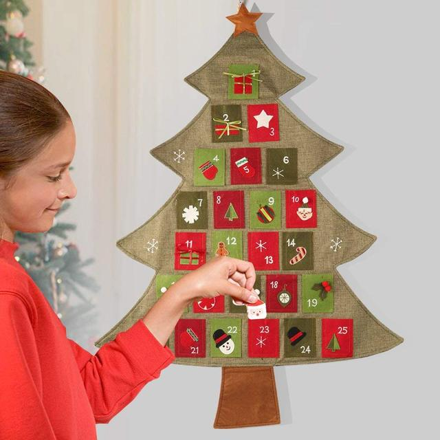 Christmas Decorations Ornament Tree Advent Calendar 2018 Countdown To Xmas Home Hanging