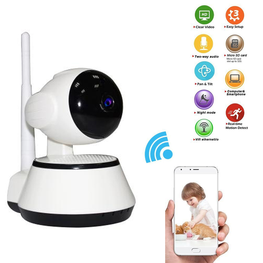 Home Security Mini IP Camera Wireless WiFi CCTV Surveillance Camera 720P Baby Monitor IR-Cut Night Vision Support APP Alarm loft style iron edison wall sconce industrial lamp wheels vintage wall light for home antique indoor lighting lampara pared