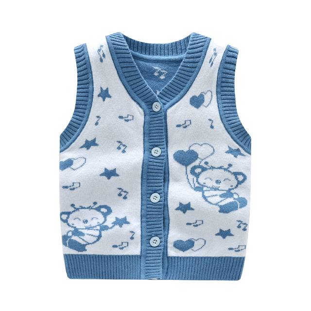Mode Baby Weste Baumwolle Warme Charakter Muster Jacquard Gestrickte ...