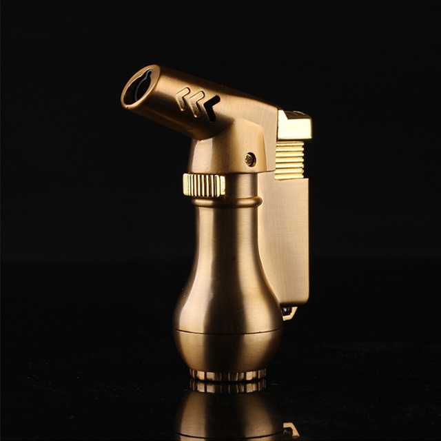 NEW Portable Spray Gun Compact Butane Jet Lighter Torch Turbo Lighter Fire Windproof Metal JET Lighter 1300 C NO GAS