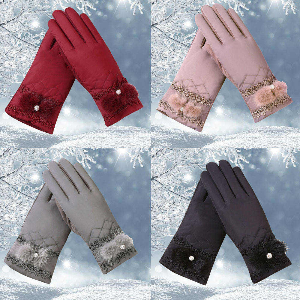 New Arrival Womens Windproof Gloves Winter Outdoor Sport Ski Full Finger driving gloves bayan eldiven