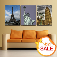 5D Diy Diamond Painting Embroidery Landscape Scenic Statue Of Liberty Eiffel Tower Big Ben For Living