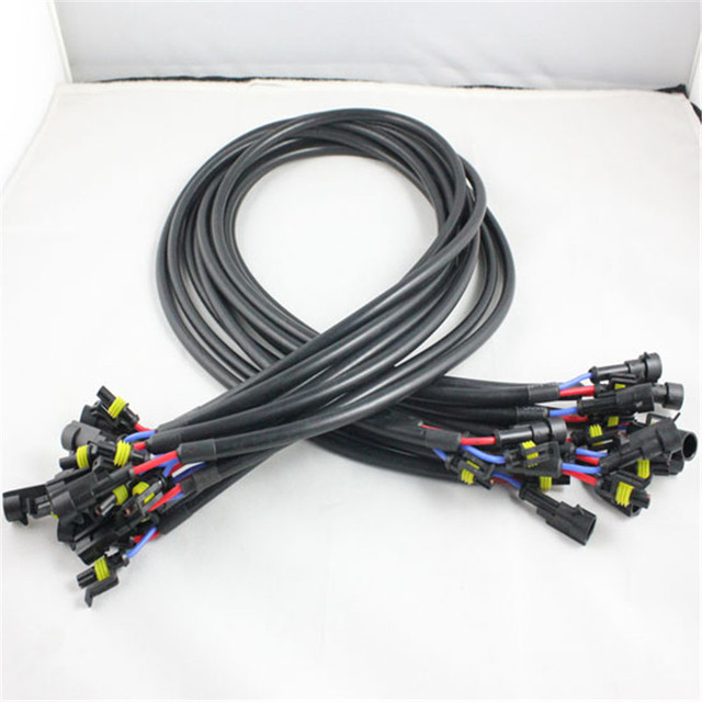 4pcs HID Ballast Extension Cable Cord Connector 100cm hid xenon bulb ballast cable wire relay harness socket adapters holder