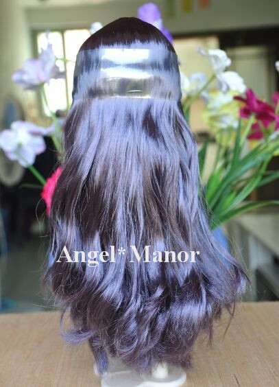 Free shipping, hair for Blyth doll with scalp,  Dark purle  long hair,  For DIY change dll , TP31