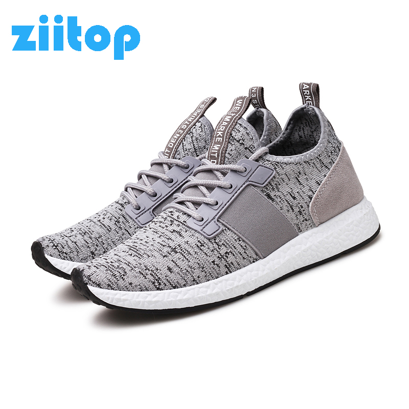 ZIITOP Running Shoes For Men Zapatillas Hombre Deportiva Sports Shoes Men Fly Weave Athletic Sneakers Men Trail Running Trainer puma shoes vogue leisure sports shoes zapatillas hombre deportiva