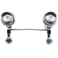 Motorcycle LED Turn Signal Spotlight For Harley Electra Glide Touring Honda Shadow VT 750 1100 1300 1800 ACE Aero VTX