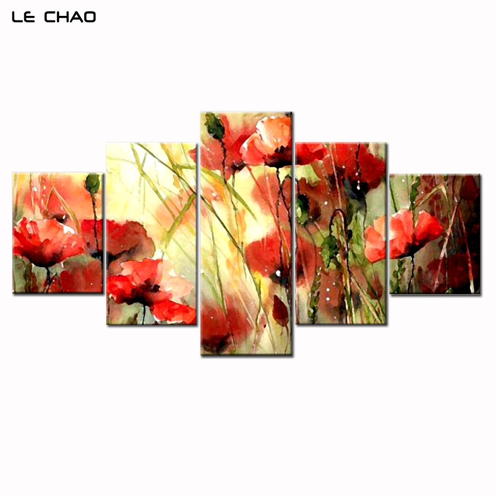 Home Decor Canvas Prints Wall Pictures for Living Room Modular Pictures Canvas Painting Beautiful Flowers Combination Painting