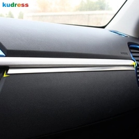For Kia Rio 4 X line 2018 2019 Stainless steel styling glove box cover detector trim middle console control dashboard panel 1pcs