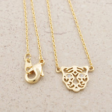 Daisies Pendant Necklace Cute Simple animal necklaces tiger necklace head tiger Gift Wedding For Girl Women One Piece