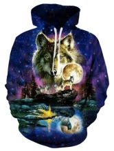 2019  Wolf Printed Hoodies Men 3d Hoodies Brand Sweatshirts Boy Jackets  Pullover Fashion Tracksuits Animal Sweatshirts