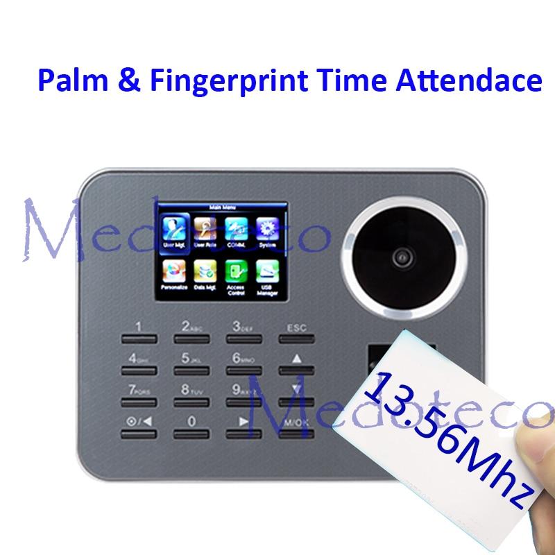 New Iclock360-P Biometric Palm Time Attendance BioID Fingerprint Time Recording 13.56mhz IC Card Electronic Attendance Machine