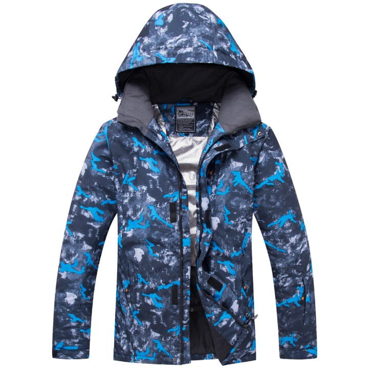 Hiver thermique épaississement à capuche nouveau Sport de plein air vêtements imperméable coupe-vent grande taille veste de Ski hommes manteau vestes de Ski