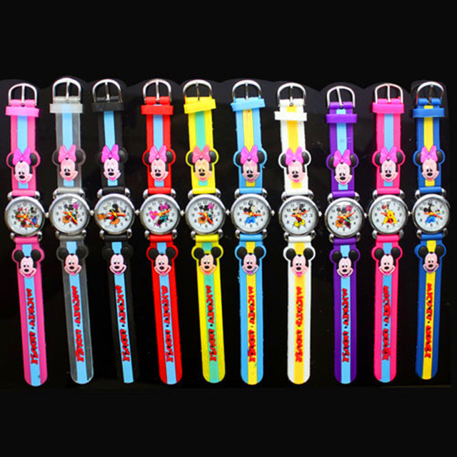 2018 New fashion Colorful watch women children cartoon watches Mickey Cute watch