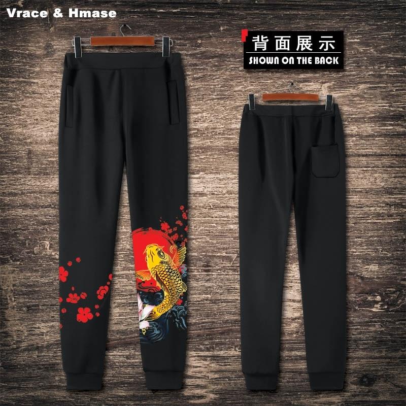 Amichevole Stile Nazionale Cinese 3d Carp Motivo Stampa Moda Casual Jogging Nuova Qualità Di Arrivo Di Grandi Dimensioni Sciolti Streetwear Pantaloni Uomo
