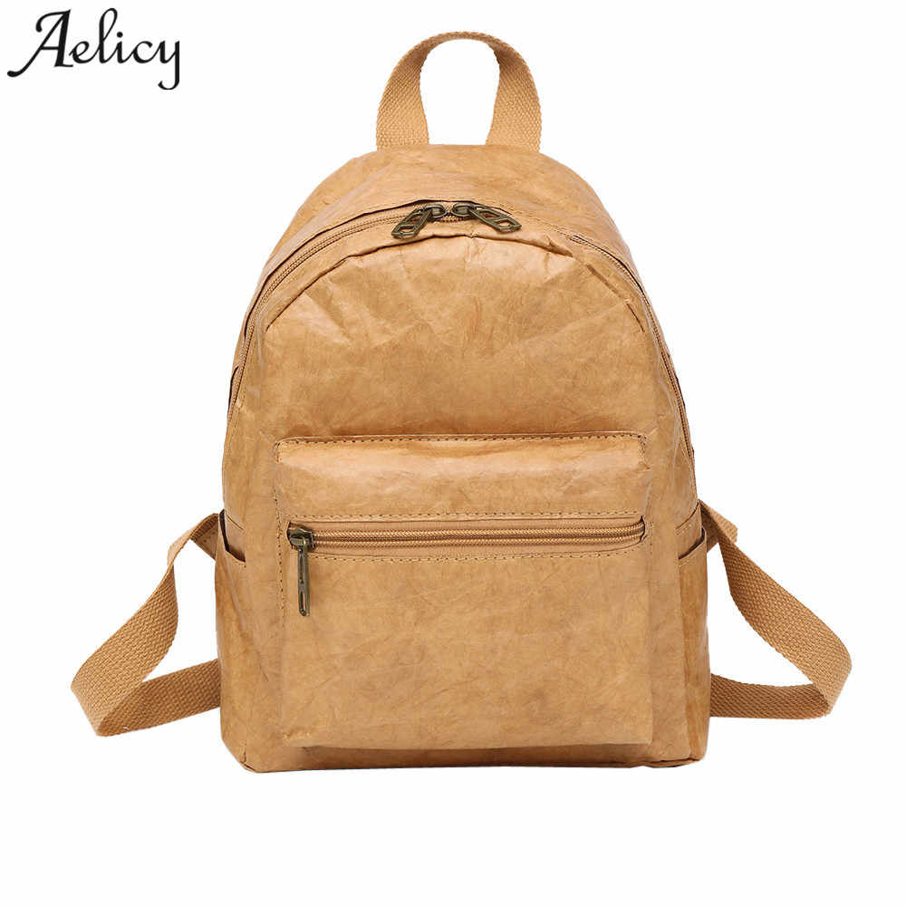 006300adc57 Detail Feedback Questions about Aelicy men Backpack Vintage leather girls  School Bag waterproof Travel Women Bag Laptop mochila feminina dropshipping  hot ...