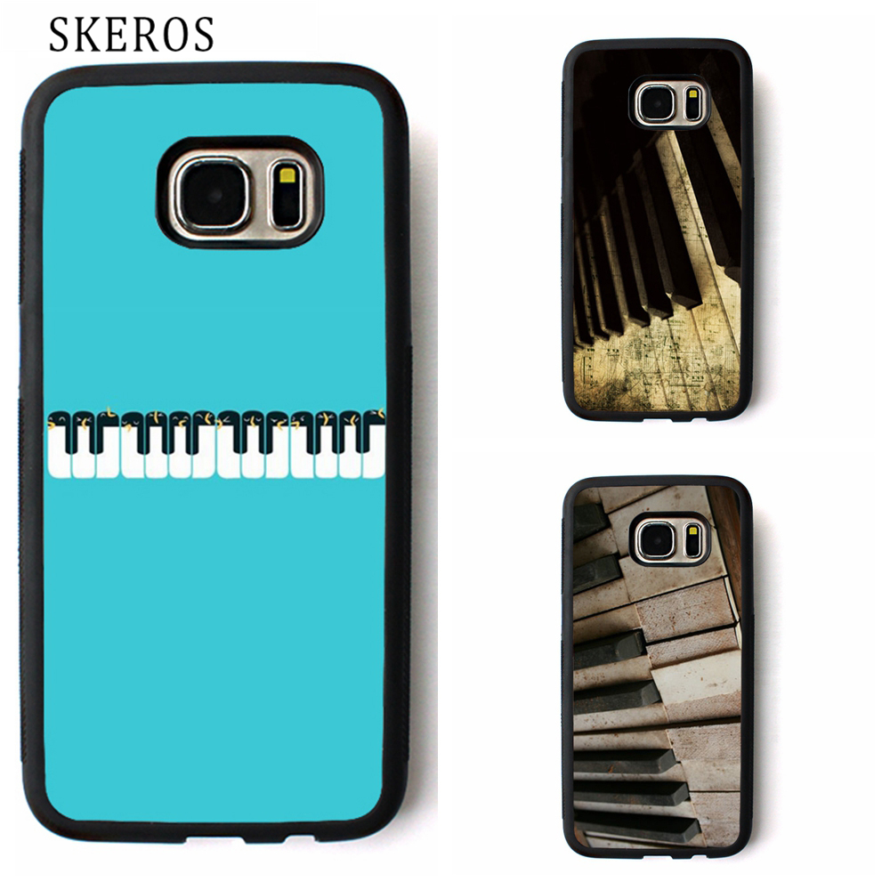 SKEROS Penguin Piano cute cover phone case for samsung galaxy S3 S4 S5 S6 S7 S8 S6 edge S7 edge Note 3 Note 4 Note 5 #rr366