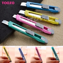 2PCS Box Cutter Utility Knife Snap Off Retractable Razor Blade Knife Tool #G205M# Best Quality