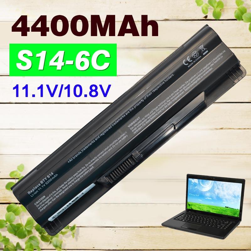 4400mAh battery For MSI BTY-S14 BTY-S15 CR650 CX650 FR700 FR400 FR600 FR610 FR620 FR700 FX400 GE70 GE60 FX420 FX600 FX603 FX610 стоимость