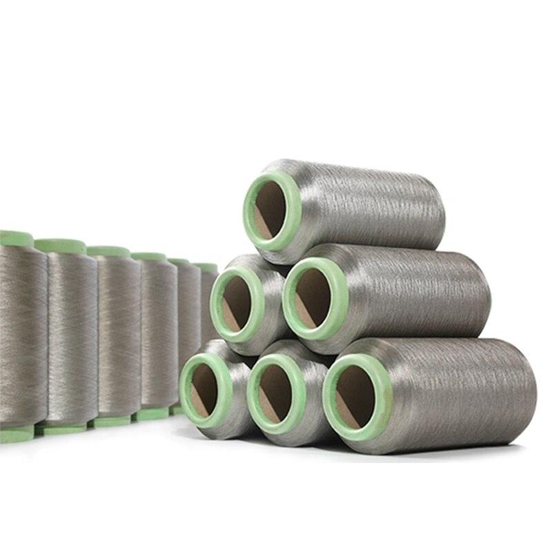 Fil à coudre conducteur en fiber d'argent FDY 140D antistatique (100% fiber d'argent) 500 g/pièce