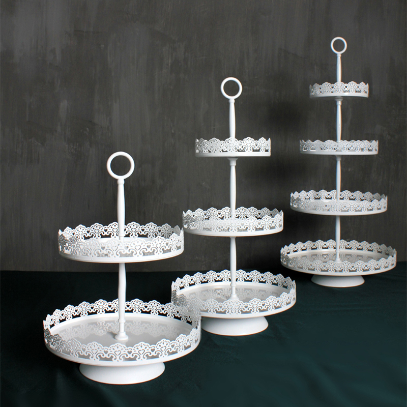4 tiers cake stand metal white wedding cake tools for cupcake display plate party event home decoration bakeware Kitchen& bar
