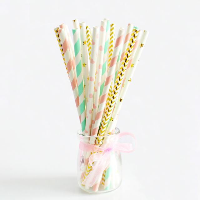 Kraft Paper Drinking Straw Set 25 Pcs