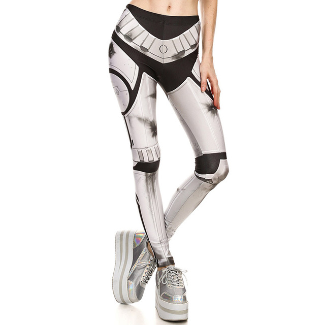 New 1643 Sexy Girl leggins bullet marks Mecha Iron Man cosplay Printed Polyester Elastic Fitness Workout Women Leggings Pants