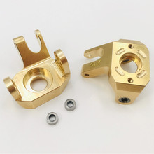 KYX copper steering wheel hub carrier for Axial scx10-ll 90046 82g/pair 1/10 rc car
