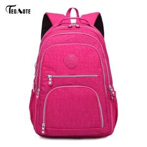 Image 4 - TEGAOTE School Bag Waterproof Nylon Brand Laptop Backpacks For Teenager Women Backpack Leisure Shoulder Bags Computer Packsack