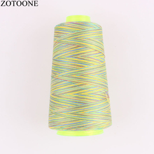 ZOTOONE DIY 3000Y Multicolor 40S/2 Spool Embroidery Thread Sewing Accessories Industrial Threads for Overlock Leather D