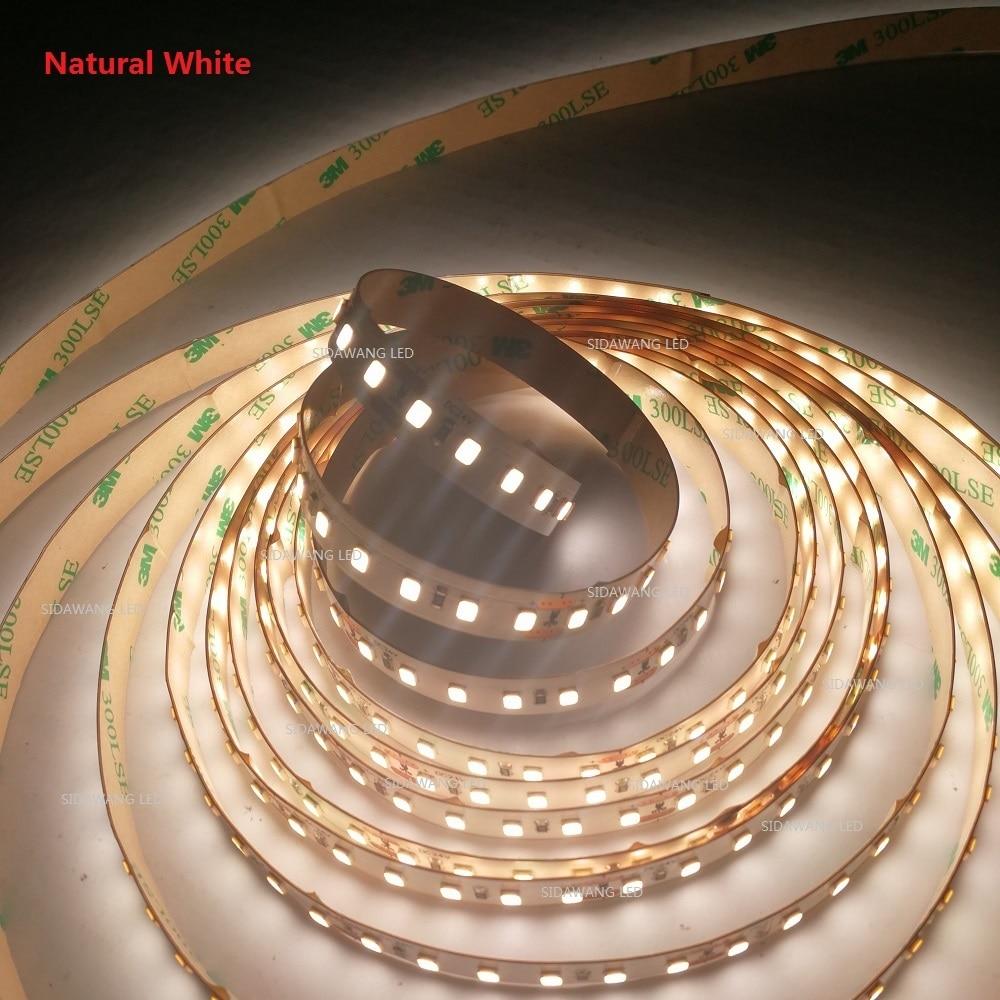 CRI>90+Ra,Natural White 4000K Superbright 2835SMD LED (22 24lm/led), 120leds/m,10MM PCB 5m Nonwaterproof LED Strip Lights-in LED Strips from Lights & Lighting    1