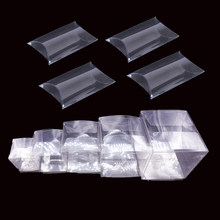 10pcs Transparent Clear PVC Candy Box Square Pillow Shape Chocolate Gift Box Wedding Favor Birthday Baby Shower Party Supply(China)