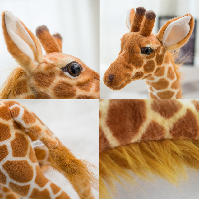 Cute Huge Giraffe Plush Toys Lifelike Cartoon Animals Stuffed Dolls Real Simulation Yellow Deer Soft Toys Birthday Gift Kids Toy 4