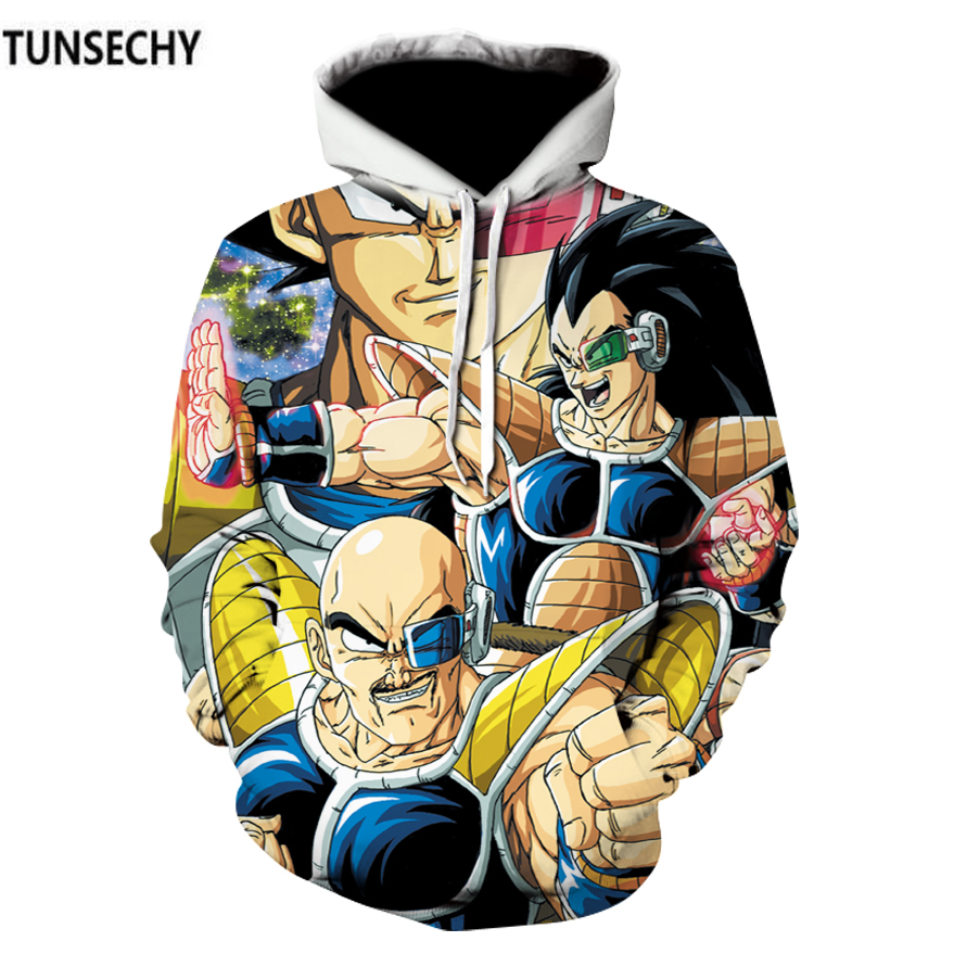 TUNSECHY fashion Brand Dragonball sun wukong hoodies and sweatshirts cartoon clothing menswear 3D Digital printing Sweatshirts