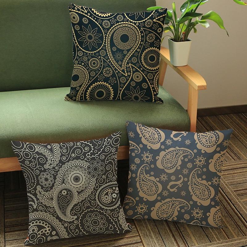 Europa y América vintage patrón creativo impresión algodón y lino - Textiles para el hogar