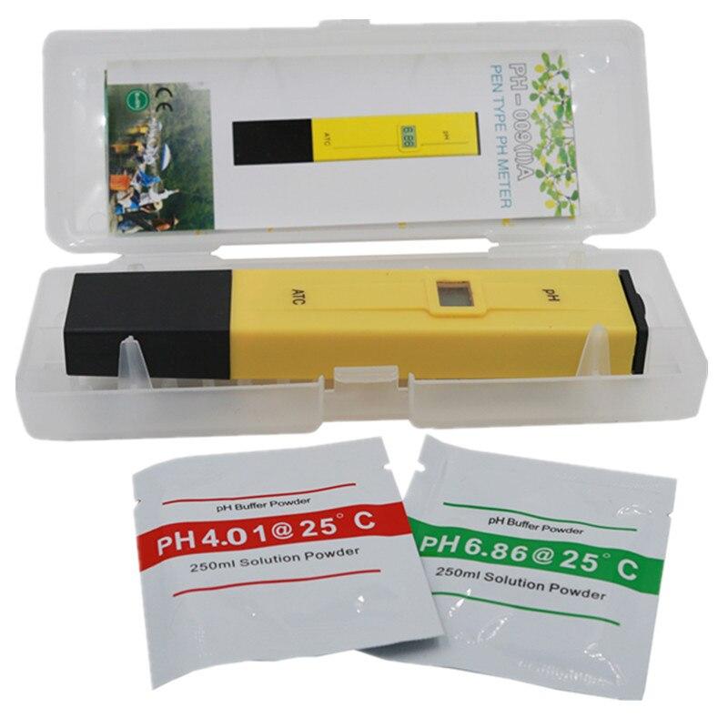 Pluma del bolsillo de prueba de agua Digital medidor de PH probador PH-009 IA 0,0-14.0pH para acuario agua de la piscina de laboratorio 21%