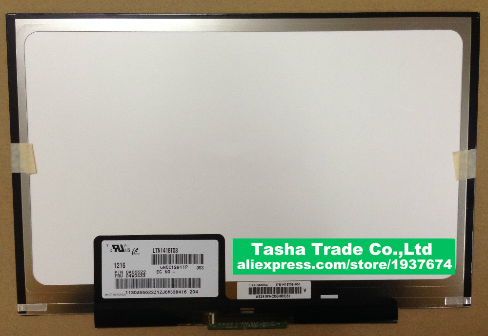 Brand New LTN141BT08 LCD Screen For Thinkpad T410S T400S LCD Laptop Screen 1440*900 ltn141bt08 fit lt141deq8b00 lcd screen1440 900 slim led panel