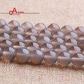 De calidad superior de Piedra Natural gris ágata Redonda del grano Flojo de Piedra bola Seleccionable 4/6/8/10 MM Para La pulsera de La Joyería Que Hace