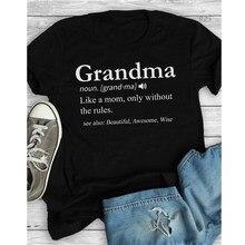 Oma Als EEN Moeder Zwart T-shirt Zomer Esthetische Tumblr Hipster Grunge Grappige T-shirt Casual Grafische Sarcastische Gezegden Tees Tops