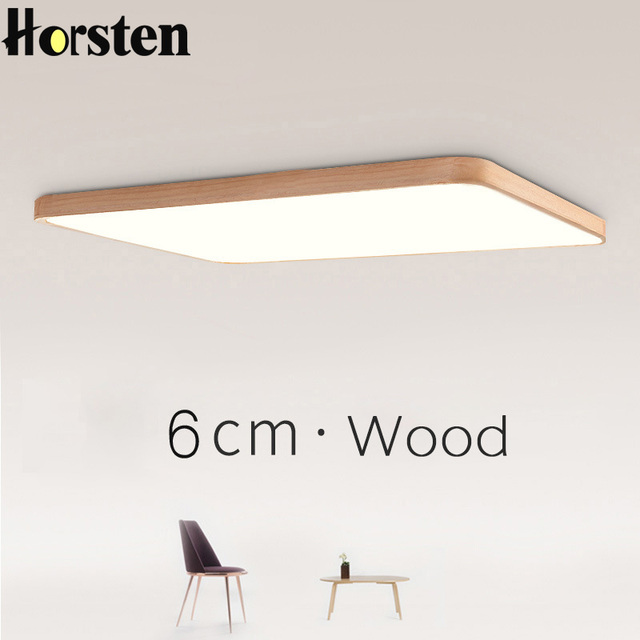 Japanese Tatami Led Ceiling Lamp Bedroom Ultra Thin: Nordic Simple Modern OAK Wood Ceiling Lamp Ultra Thin